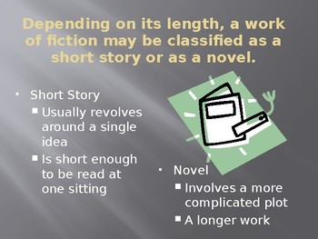 Fiction Terms PowerPoint Presentation