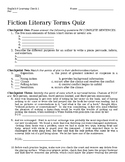 Fiction Terms Quiz