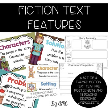 Fiction Text Element Posters and Reading Response Activities