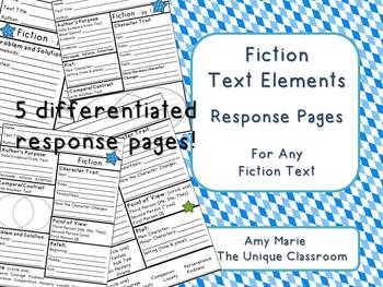 Fiction Text Elements Response Pages