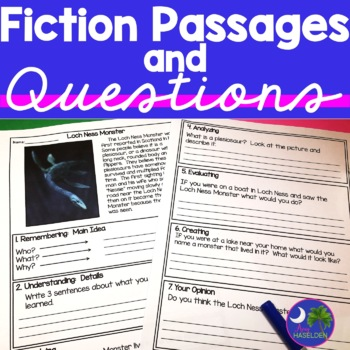 Fiction Passages for Reluctant Readers with Critical Think