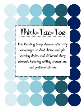 Fiction Think Tac Toe ~ Including Modified Version