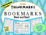 Fiction Thinkmarks Reading Strategies Bookmarks  for Thinking about Reading