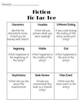 Fiction Tic-Tac-Toe
