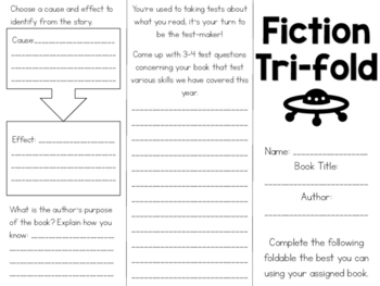 Fiction Tri-fold - 8+ Reading Skills