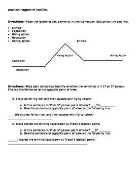 Fiction Unit Post-Assessment