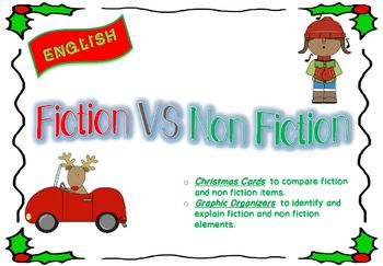 fiction vs non fiction christmas cards adapted worksheets first grade - Non Photo Christmas Cards
