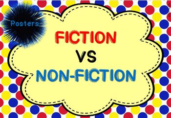 Fiction VS Non-Fiction Posters with text features 4 different sets