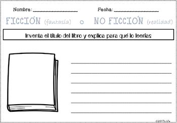 Fiction VS Non-Fiction Unit with several Graphic Organizers + Posters SPANISH