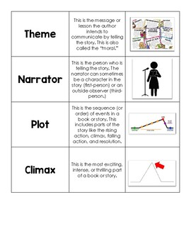 Fiction Vocabulary Word Card Sort
