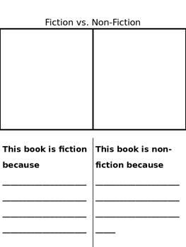Fiction Vs. Non-fiction Organizer