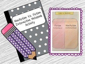 Fiction Vs. Nonfiction Interactive Notebook Sort Activity