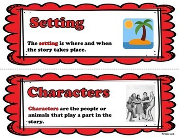 Fiction Word Wall (For 6th and 7th Grade)