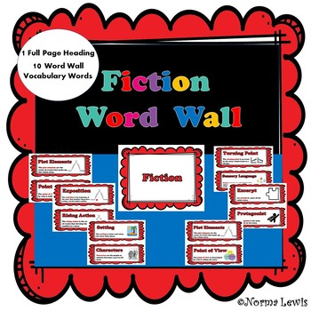 Word Wall Words for Fiction
