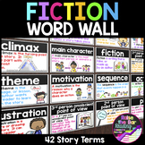 Fiction Word Wall ~ 42 Reading Fiction Posters, Word Wall Cards, or Flashcards
