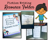 Fiction Writing Folder - Story Elements, Adjectives, Trans