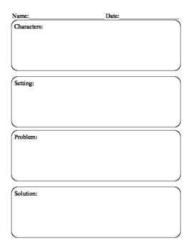 Fiction Writing Graphic Organizer