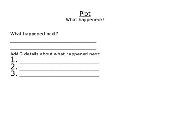 Fiction Writing Guided Planning Packet