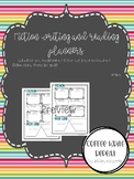 Fiction Writing and Reading Planners