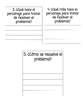 Fiction Writing (Planning) Sheet in Spanish