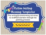 Fiction Writing Planning Template, Pre-Writing