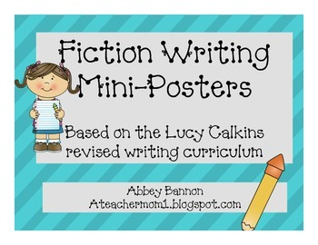 Fiction Writing Posters - Grade 1
