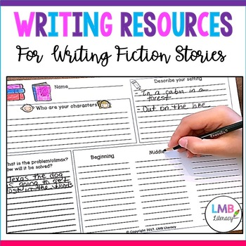 Writing Resources: *Fiction* Graphic Organizers, Prompts, and Self Assessments