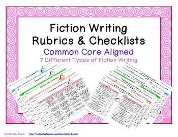 Fiction Writing Rubrics & Checklists - Common Core Aligned