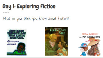Fiction Writing Unit