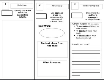 Fiction and Informational Text Trifold Brochure