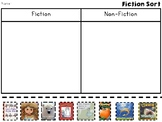 Fiction and Non-Fiction Book Cover Sort
