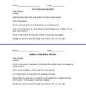 Fiction and Non-Fiction Book Report Template
