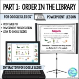 Library Skills PowerPoint PART 1 Fiction and Nonfiction Dewey Decimal Order