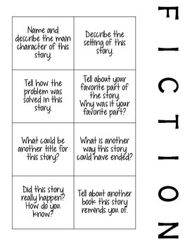 Fiction and Non-Fiction Comprehension Prompts