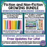 Fiction and Non-Fiction Growing MEGA Bundle for Middle School ELA
