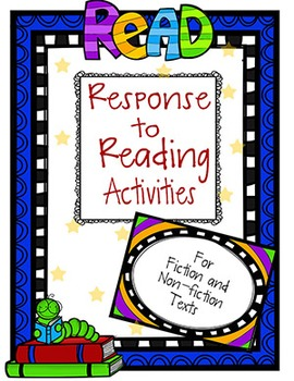 Fiction and Non-Fiction Reader Response Pack