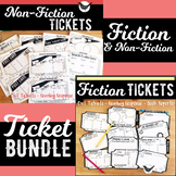 Fiction and Non-Fiction Reading Response TICKET BUNDLE