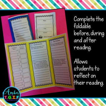 Fiction and Non-Fiction Reading Skills, Comprehension and Vocabulary Foldables