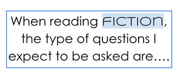 Fiction and Non Fiction Reading Tool