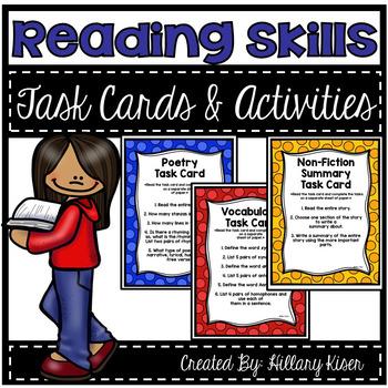 Reading Skills Task Cards