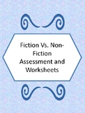 Fiction and Non-Fiction Worksheets and matching