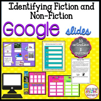 Fiction and Non-Fiction activities for Google Drive