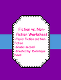 Fiction and Non-fiction Worksheets