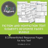 Fiction and NonFiction Text Elements Response Pages Bundle