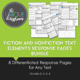 Fiction and NonFiction Text Elements Response Pages Bundle