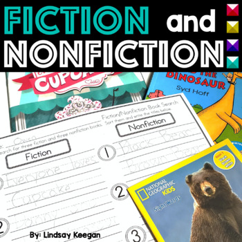 Fiction and Nonfiction Activities- Pocket Chart Sort, Read/Write the Room & More
