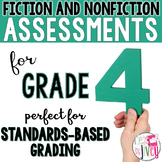 Fiction and Nonfiction Assessments for 4th Grade - 1 YEAR!
