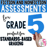Digital & Printable | 1 Year of Fiction and Nonfiction Assessments | 5th Grade