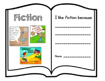 Fiction and Nonfiction Books Opinion Writing