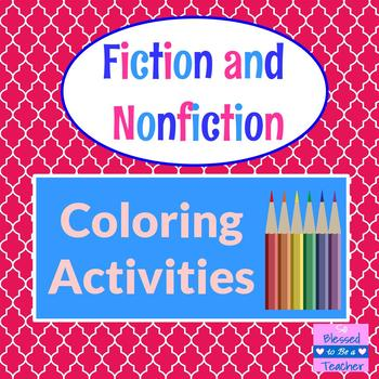 Fiction and Nonfiction Coloring Pages and Bookmarks